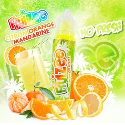 E-liquide Citron Orange Mandarine NO FRESH 50ml - Fruizee
