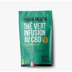 Infusion CBD / Thé Vert Pomme Menthe - TIZZ